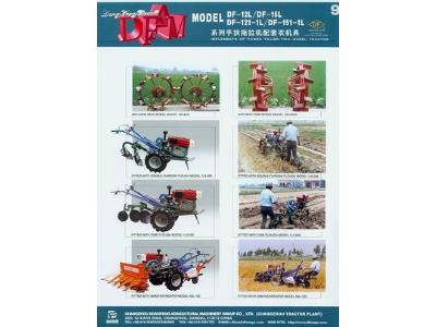 Tractor equipped implements: Plough, Harrow, Trailer, Blade, Mower, Diger, Riger、Planter..