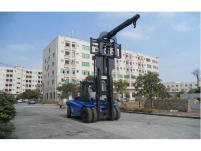 12 Ton Diesel Heavy Forklift Truck attach Telescopic Boom Crane