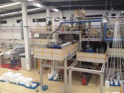 AF-1600 , 2400 ,3200 SMMS Nonwoven Fabric Production Line For Surgical Cloth