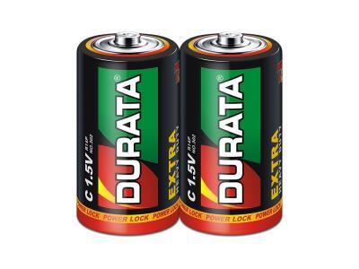 DURATA Zinc-Manganese Dry Battery Size C