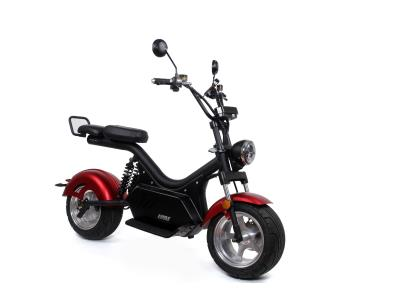2020 Hot Sale Leather Double Seats Portable Electric Kick Motorbike with 2000W Motor