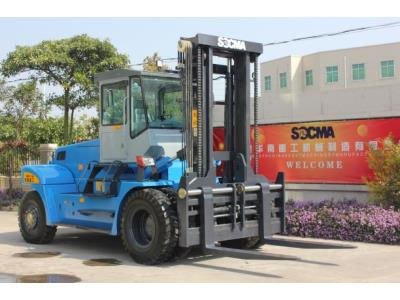 16 Ton Diesel Heavy Forklift Truck Color Blue