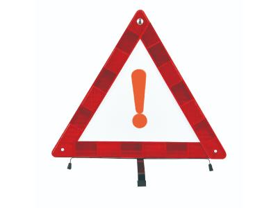 Reflective triangle warning sign car emergency traffic  warning triangle