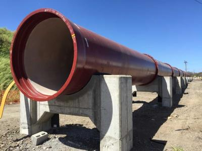 EN598-2007 Ductile Iron Pipes with high alumina cement lining