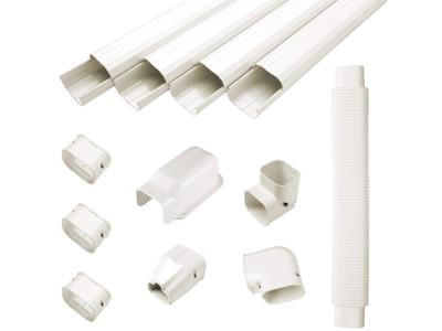 Air conditioner PVC duct tube for HVAC line set cover kits ac pipe cover