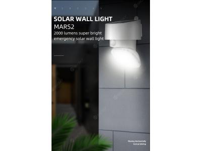 SRESKY new design outdoor led motion sensor solar power  led lighting solar wall light