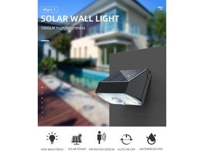SRESKY new design high power pir motion sensor led wall lamp outdoor garden solar light