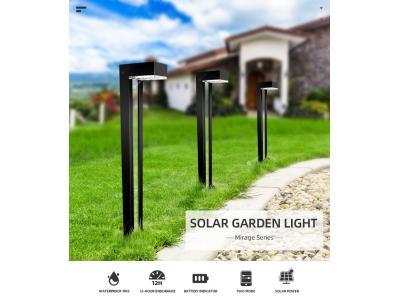 Sresky MIRAGE SERIES waterproof outdoor garden solar powered bollard light
