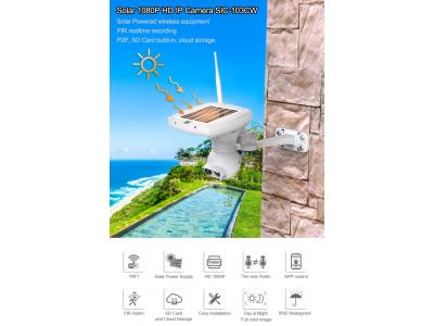 SRESKY 2020 newest product solar power security wireless ip outdoor solar camera wifi