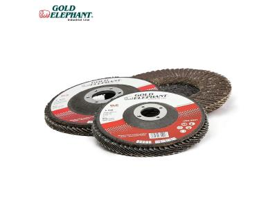 Gold Elephant abrasive flap wheel 4.5/5/7 inch grinding disc for all metal