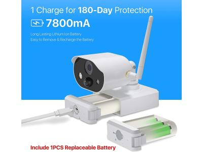 1080P 2-way audio sd card and cloud storage 100% wire-free battery powered security camera