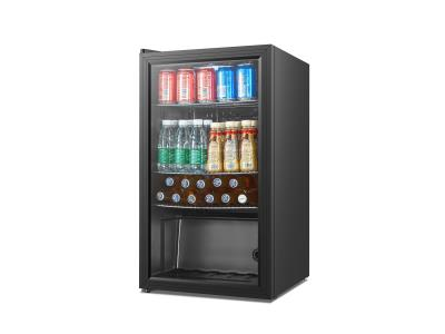 93L glass door beverage fridge