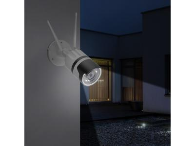 Ansjer 1080p Wireless IP Camera outdoor waterproof flash light smart home security camera