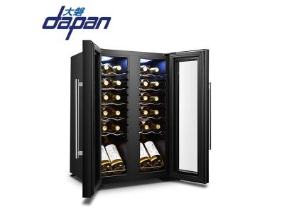 24 bottles two door dual zone side by side compressor wine cooler