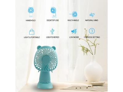 Qbill Portable Rechargeable USB and Battery Mini Fan