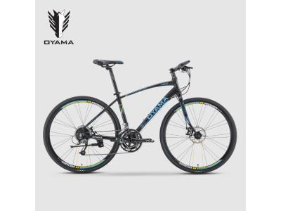 Good quality 27 speed Men's Hybrid Bike 700C double disc brake Oyama Bicicletas