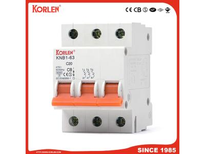 Miniature Circuit Breaker 3p MCB Dz47 Type 6A-63A with Double Wiring
