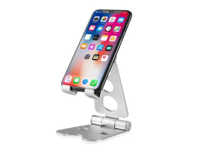 Factory Aluminum Alloy Foldable Tablet Mobile Cell Phone Holder For Desk