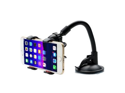 Long Arm Double Clip Car Dashboard Windshield 360 Rotating Suction Cup Mobile Phone Holder