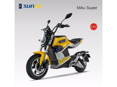 Miku super adult electric motorcycle 72V li battery e scooter