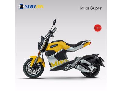 Miku super adult electric motorcycle 72V li battery e scooter