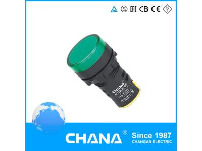 22mm Diameter Protected LED Indicator Lamp with Ce and RoHS Approval