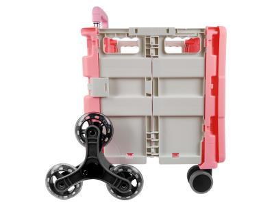 8 Wheels Climb Fashion Kids Baby Supermarket Plastic Organizer Storage Folding Shopping Ca