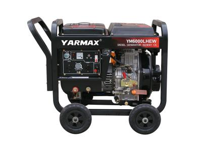 Yamax 2kW 3kW 5kW, 50~250A, 1.6~6mm Electrode, Diesel Welding Dual Function Generator