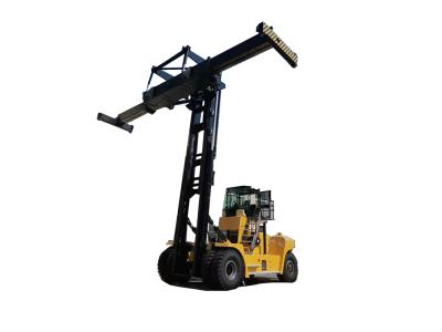 45 Ton Diesel Heavy Forklift Truck Color Yellow with container spreader