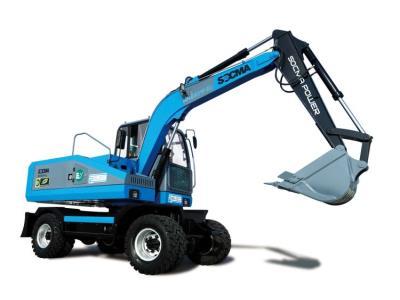 SOCMA Electric Wheel Excavator 0 Carbon Emission 8 Ton Construction Machinery