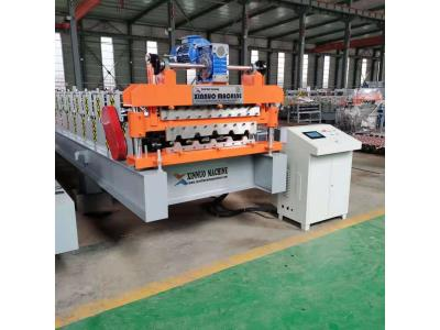 Double Layer Corrugated Metal Roofing Sheet Roll Forming Machine IBR Roofing panel double