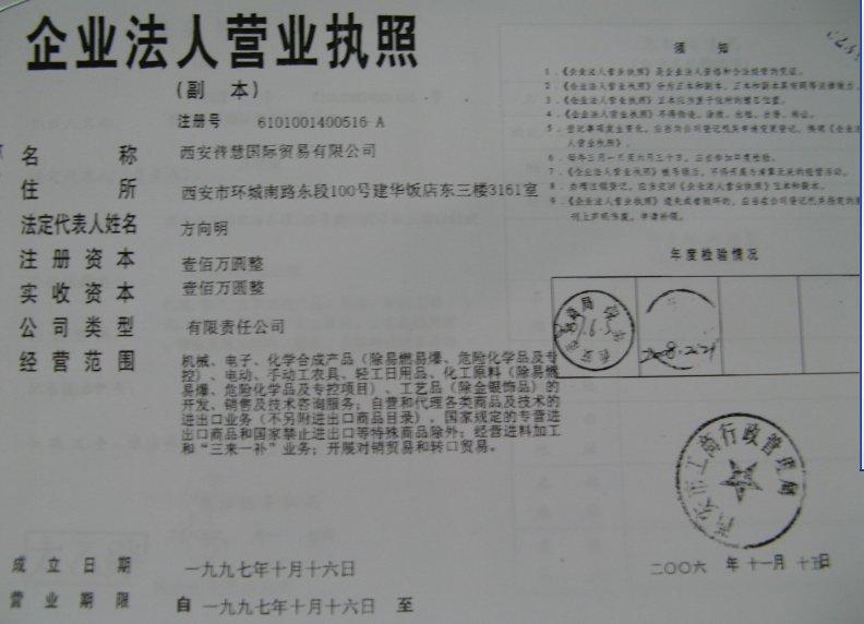 Xi'an Brightway International Trading Inc.