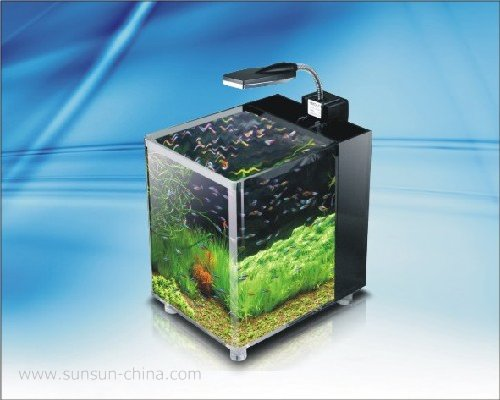 JG-380 crystal clear aquarium