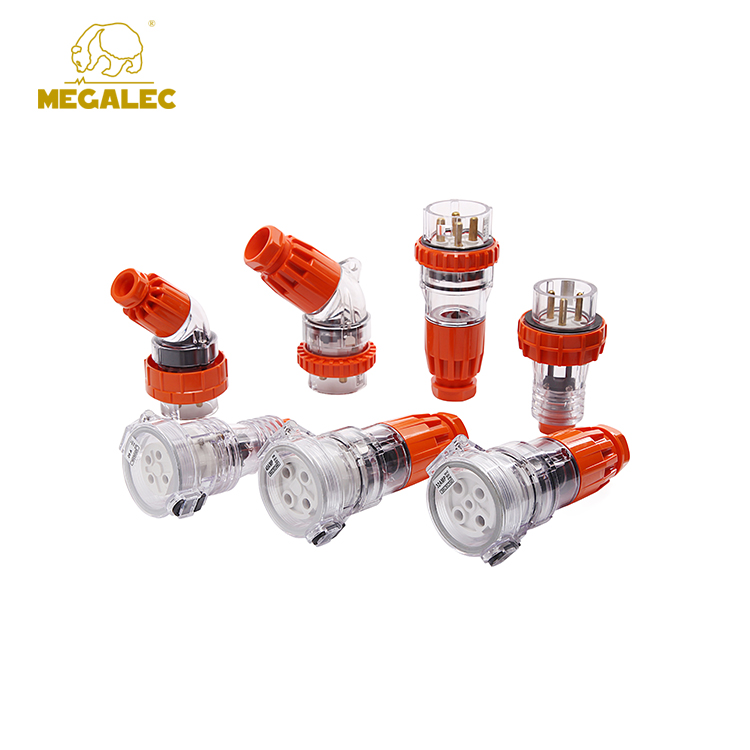 High Quality 4 Round Pin IP66 Waterproof 3 Phase Industrial Socket 32A