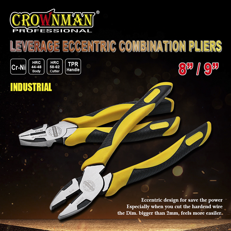 CROWNMAN Industrial Eccentric Combination Pliers