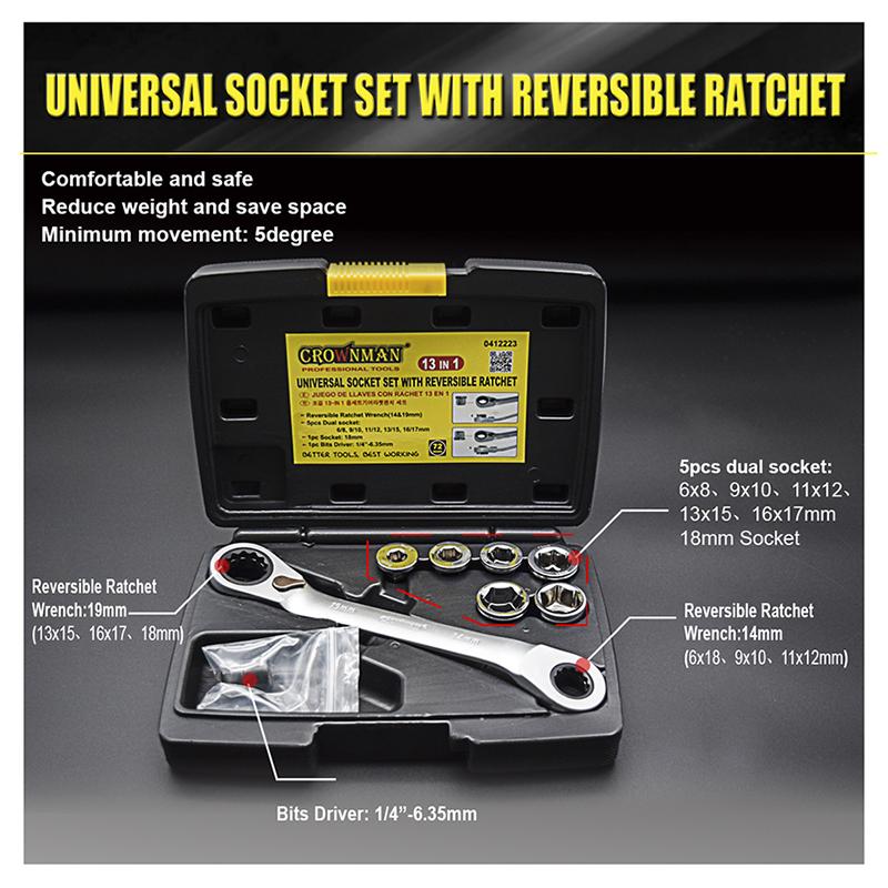 13 in 1 Universal Socket Set