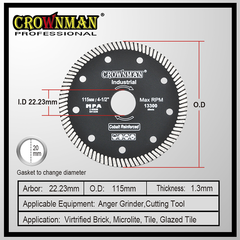 CROWNMAN Hot Press Diamond Cutting Disc