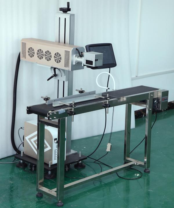 CO2 flying fiber laser marking machine
