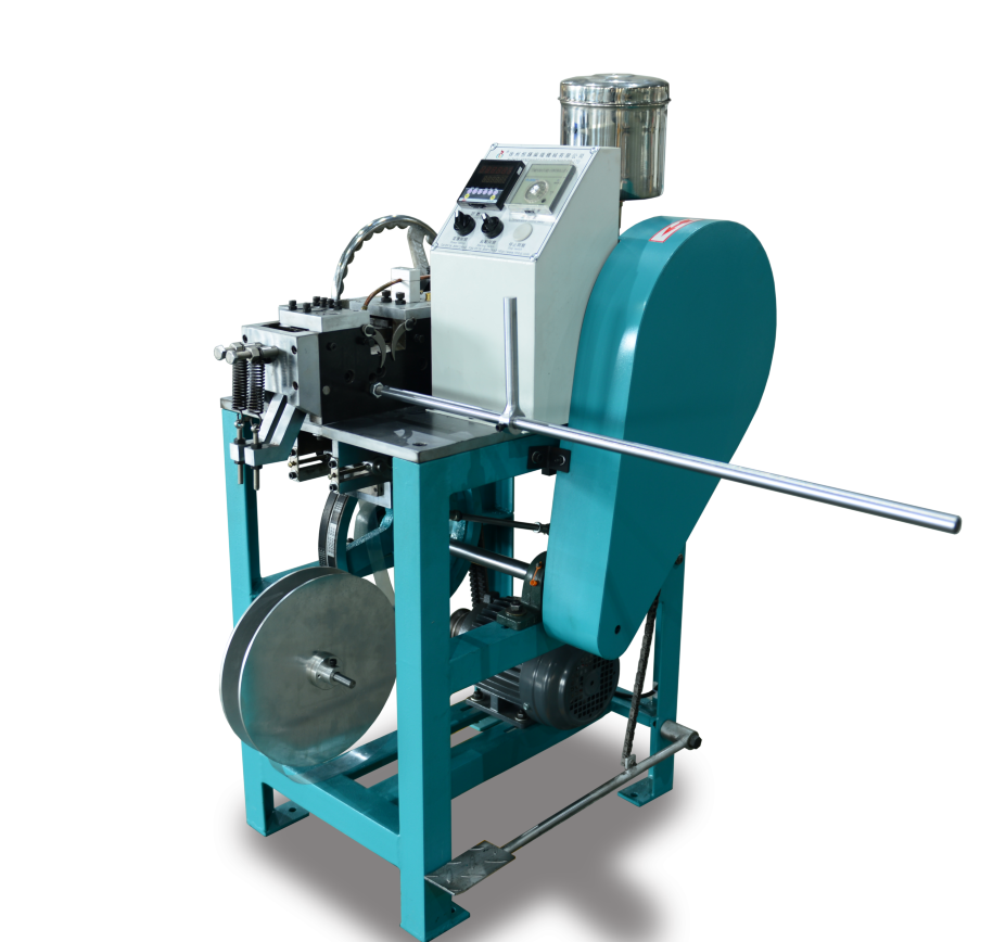 semiautomatic shoelace and bag handle tipping machine