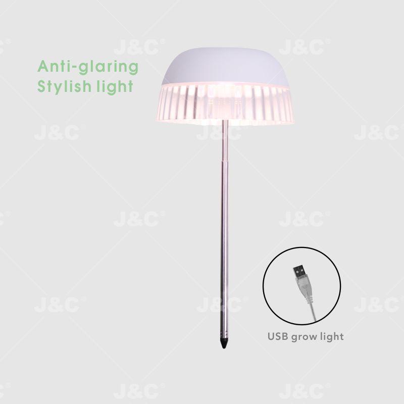 MG-TG-004 USB grow light USB charging  height adjustable  simple design  transparent skirt design  stylish light effect anti-glaring indoor decoration  big pot grow led