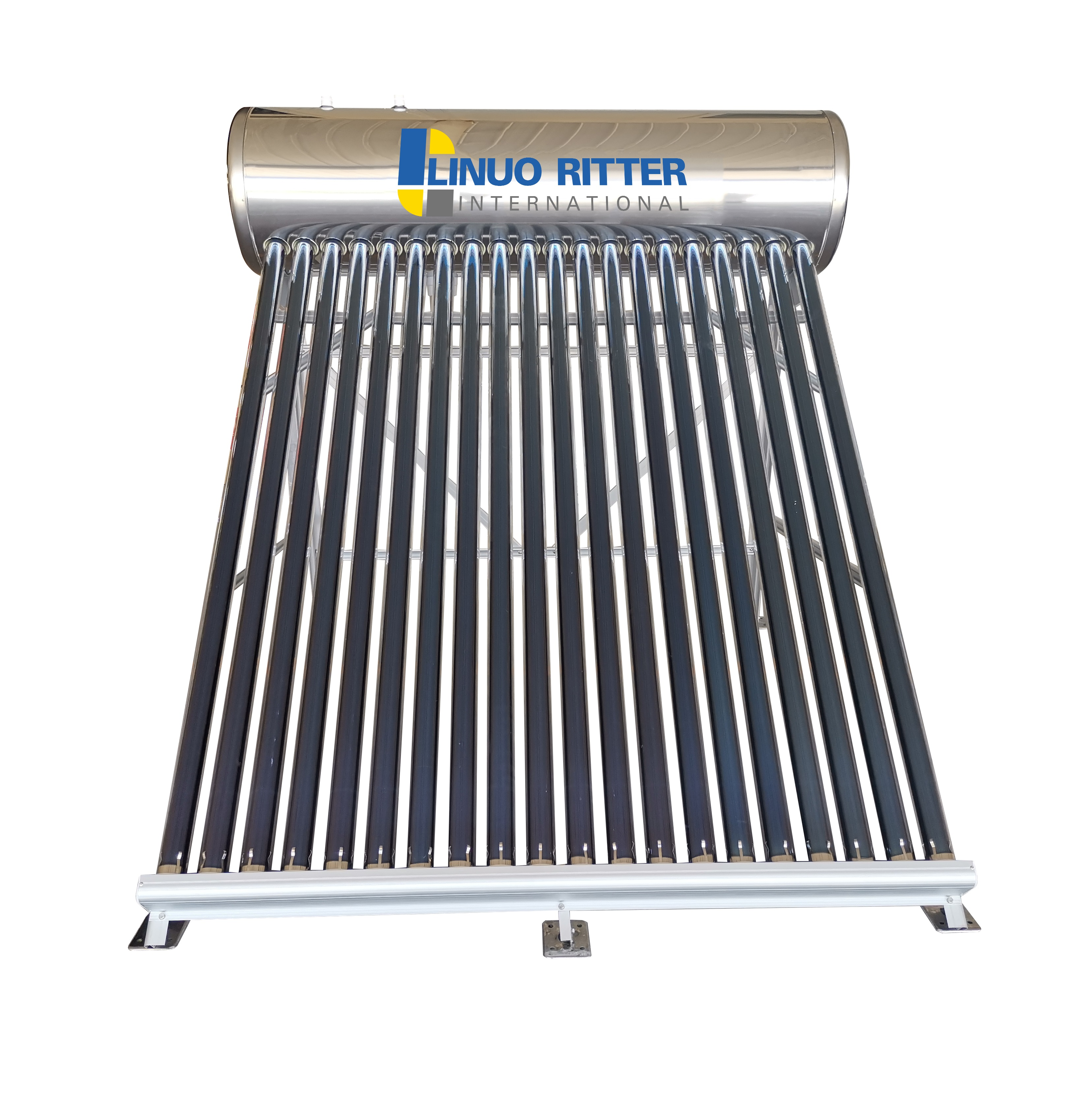 Non pressurized solar water heater with vacuum tubes 300L