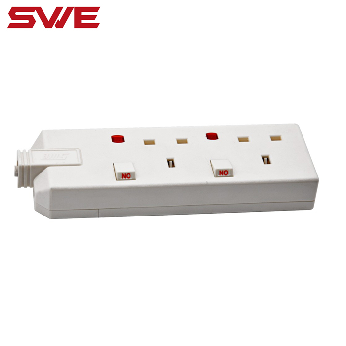 13A British Standard Switched Extension Socket with Neon