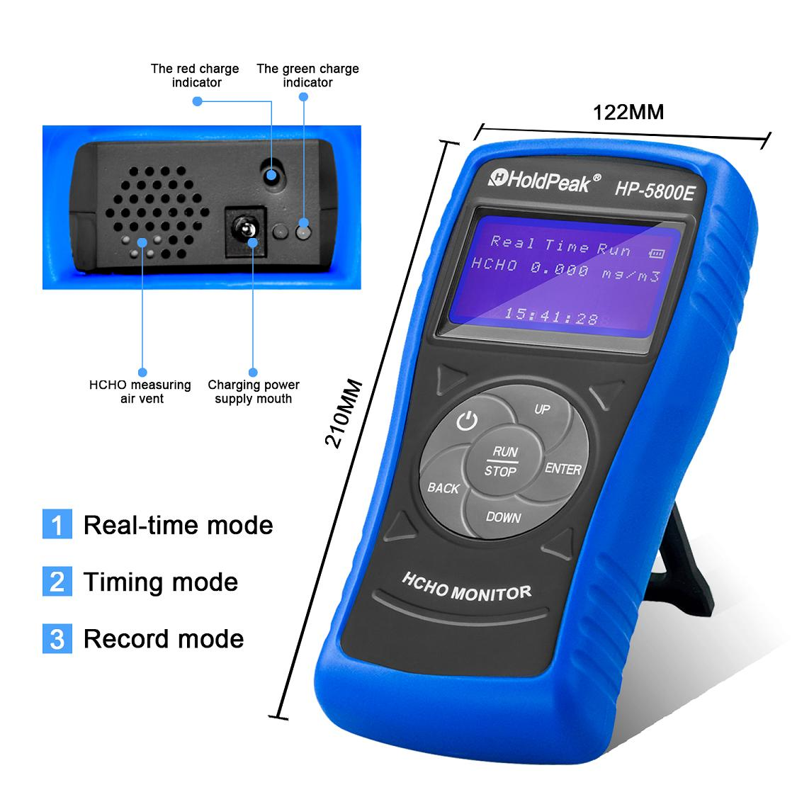 Airquality Monitor Detector with Backlight and Auto Power Off for Indoor Outdoor Environme