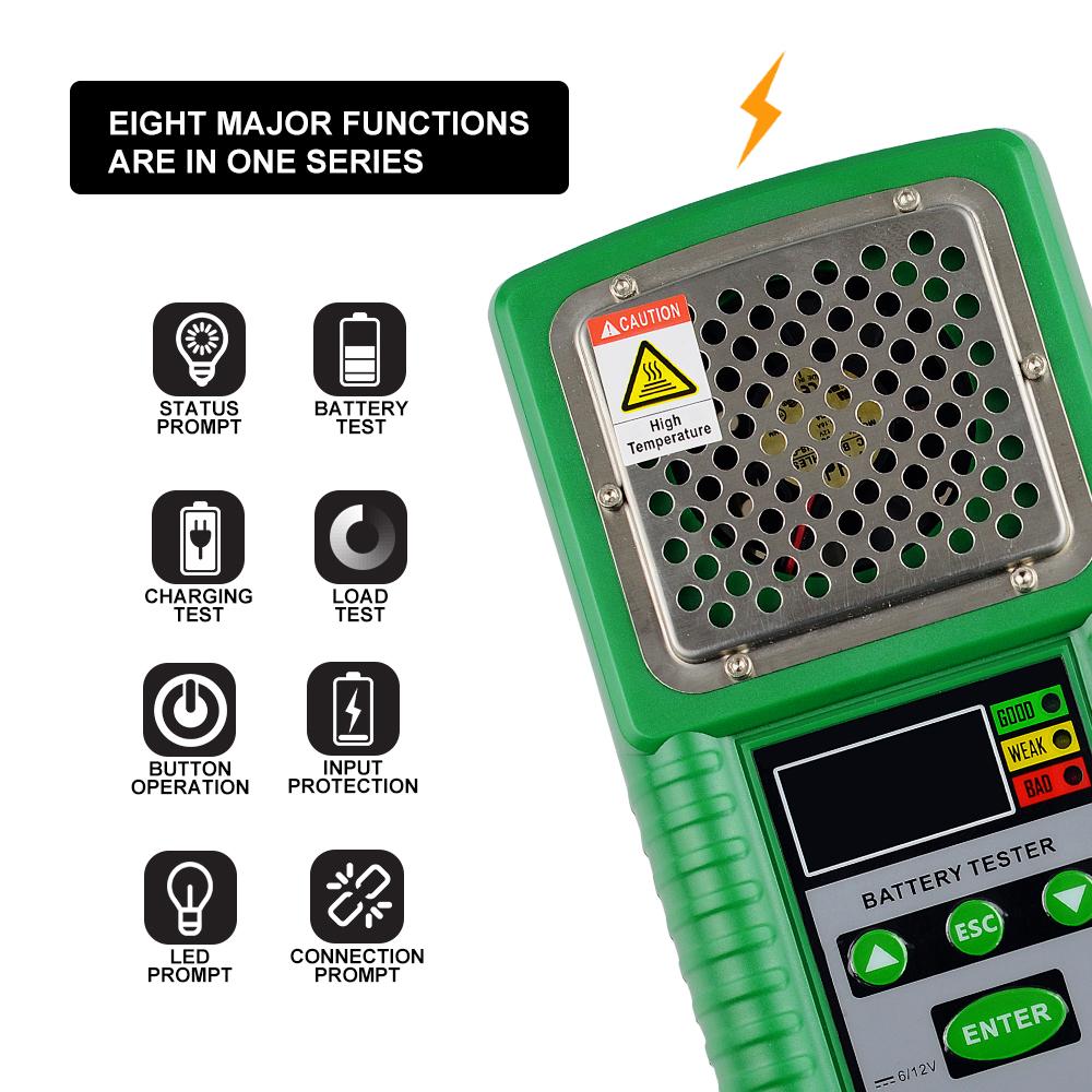 Automotive Battery Tester 6V 12V Lead-Acid Car Battery Checker Test for Battery Volt
