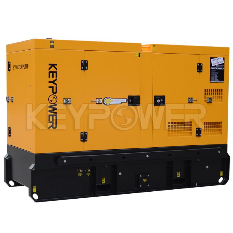 Keypower 6 Silent Type Centrifugal Self-Priming Dewatering Sewage Diesel Pump Set