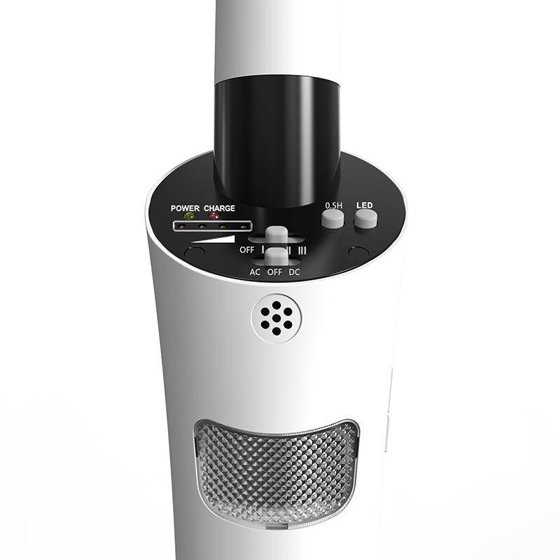 """18"""" Rechargeable stand fan with USB"""