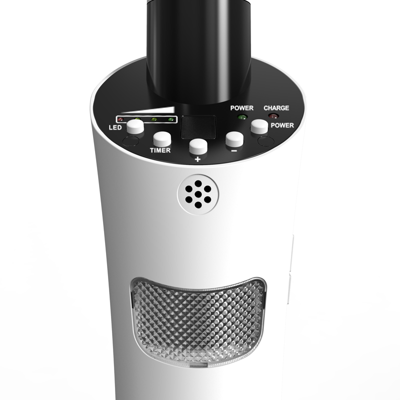 """16"""" Rechargeable stand fan with USB"""