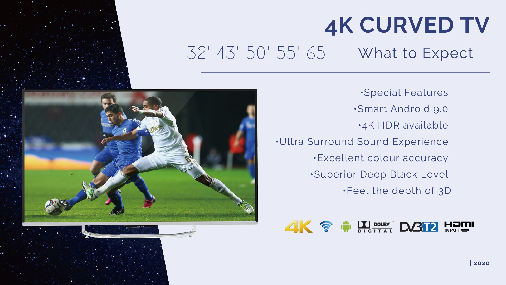 40inch FHD SMART DVB-T2 DVB-S2 ISDB-T ATSC LED TV