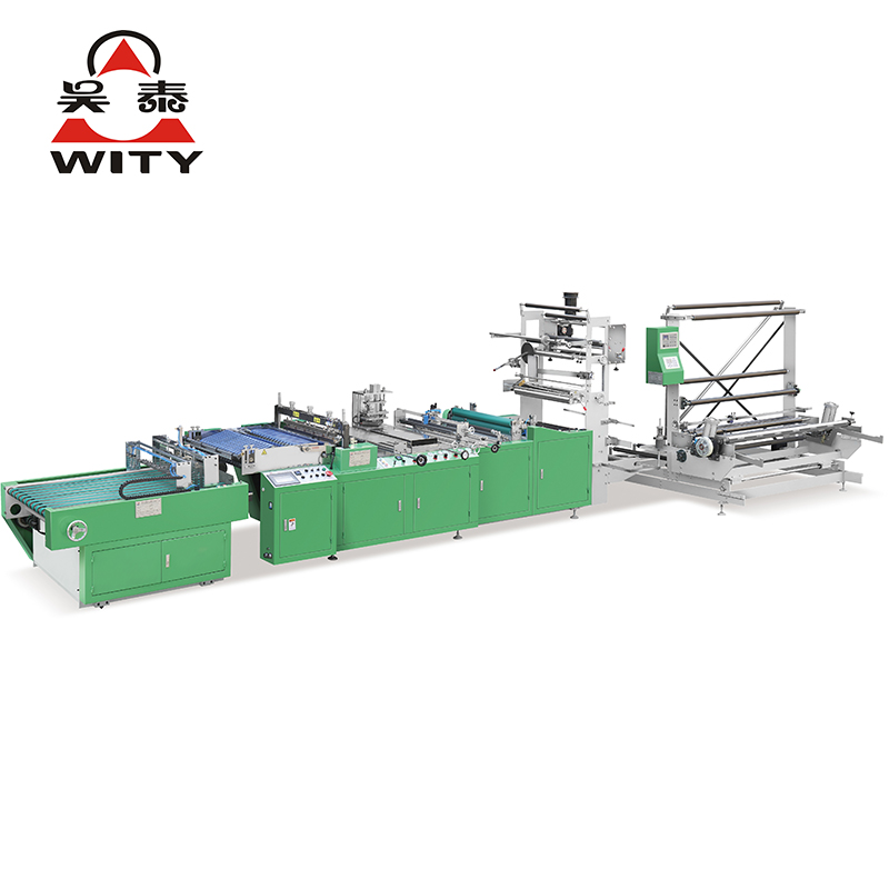 High speed square bottom bag making machine