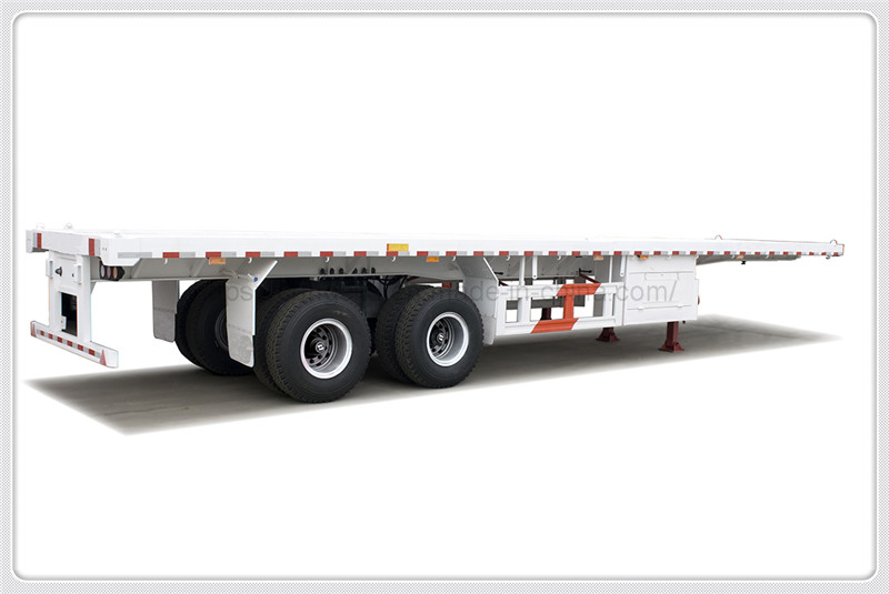 2 axle 40ft flatbed container semi trailer